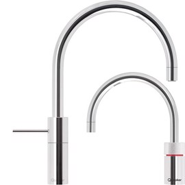 Quooker Twin Taps Nordic Round Krom inkl. PRO3 VAQ behållare